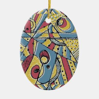Mehrfarbenabstraktes Keramik Ornament