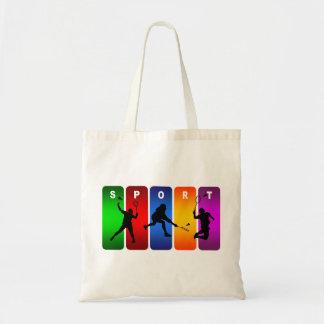 Mehrfarbenbadminton-Emblem Tragetasche