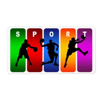 Mehrfarbenbasketball-Emblem