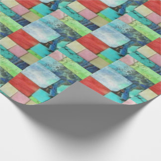 Mehrfarbenedelstein-Mosaik-Blick-Türkis-Verpackung Geschenkpapier