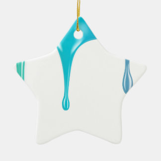 Mehrfarbenfarbe Keramik Stern-Ornament