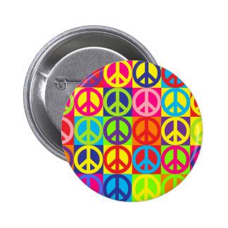 Mehrfarbenfrieden Runder Button 5,1 Cm