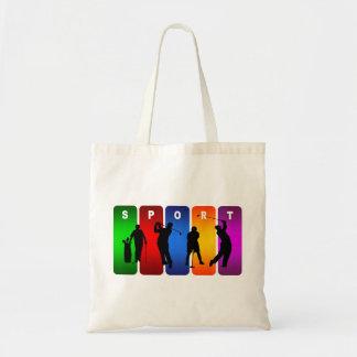 Mehrfarbengolf-Emblem Tragetasche