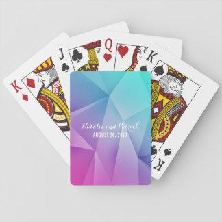 Mehrfarbenjuwel tont Hochzeits-Spielkarten Pokerkarten