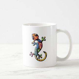 Mehrfarbenkalikokletternde Gecko-Eidechse Kaffeetasse