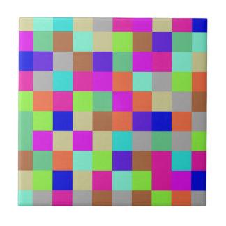 MehrfarbenKaro-Muster Keramikfliese