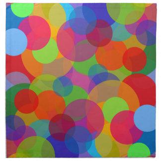 Mehrfarbenkreise u. Punkte Stoffserviette
