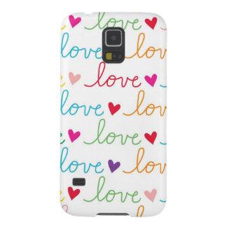 MehrfarbenkursivLiebe-Herzen Hülle Fürs Galaxy S5