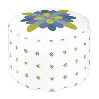 Mehrfarbenmit Blumengeometrisches Hocker