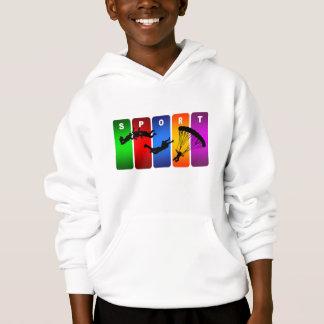 Mehrfarbenmit fallschirm abspringenemblem hoodie
