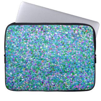 Mehrfarbenmosaik-moderner Korn-Glitzer #2 Laptopschutzhülle