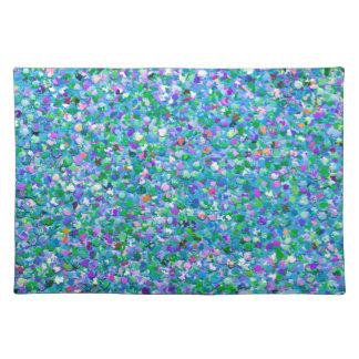 Mehrfarbenmosaik-moderner Korn-Glitzer #2 Stofftischset
