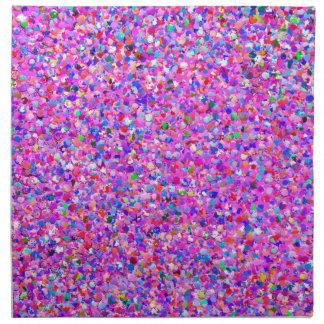 Mehrfarbenmosaik-moderner Korn-Glitzer #3 Stoffserviette