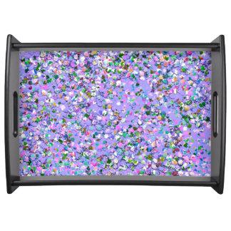Mehrfarbenmosaik-moderner Korn-Glitzer #6 Serviertablett