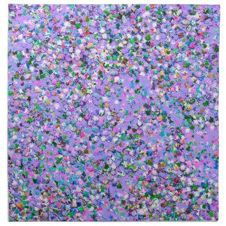 Mehrfarbenmosaik-moderner Korn-Glitzer #6 Serviette