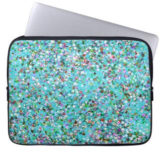Mehrfarbenmosaik-moderner Korn-Glitzer #7 Laptopschutzhülle