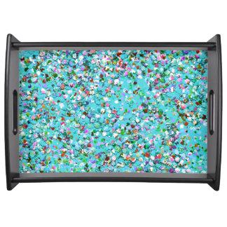 Mehrfarbenmosaik-moderner Korn-Glitzer #7 Tablett