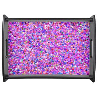 Mehrfarbenmosaik-moderner Korn-Glitzer #8 Tablett
