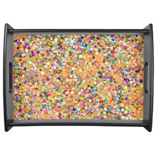 Mehrfarbenmosaik-moderner Korn-Glitzer #9 Serviertablett