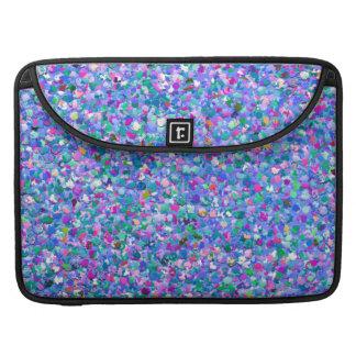 Mehrfarbenmosaik-moderner Korn-Glitzer MacBook Pro Sleeve