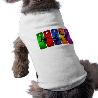 Mehrfarbenmotocross-Emblem T-Shirt