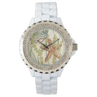 MehrfarbenMuschel-Party Armbanduhr