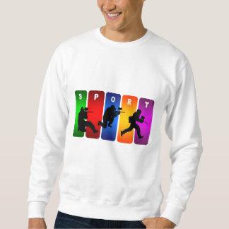 Mehrfarbenpaintball-Emblem Sweatshirt