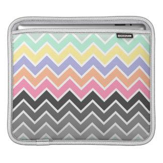MehrfarbenpastellOmbre Zickzack Muster Sleeve Für iPads