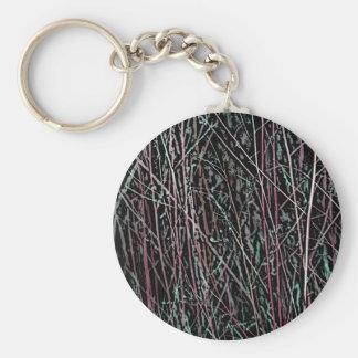 Mehrfarbenschilfe im Rosa und im Grün Schlüsselanhänger