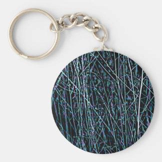 Mehrfarbenschilfe in Blauem und in Lila Schlüsselanhänger