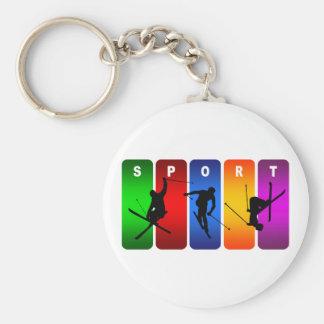 Mehrfarbenski-Emblem Schlüsselanhänger