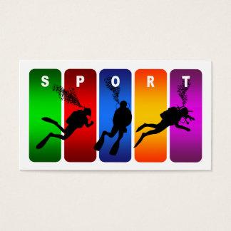 Mehrfarbensporttauchen-Emblem Visitenkarte