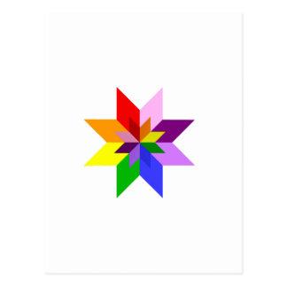 Mehrfarbenstern: Acht Punkt: Postkarte