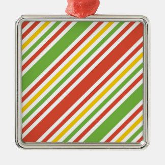 Mehrfarbenstreifen-Muster Silbernes Ornament