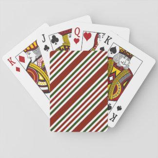 Mehrfarbenstreifen-Muster Spielkarten