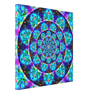 Mehrfarbentunnel-Mandala Leinwanddruck