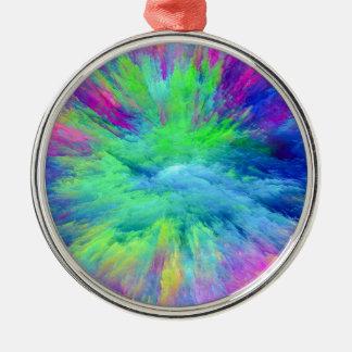 Mehrfarbig Silbernes Ornament