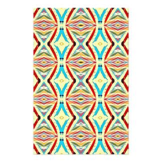 Mehrfarbige abstrakte Ketten. Geometrisches Muster Bedruckte Flyer
