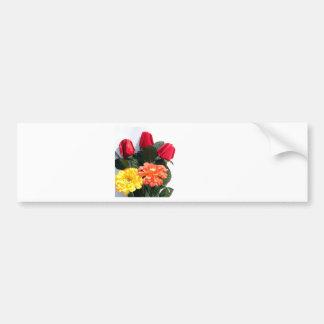 Mehrfarbige Blumen Autoaufkleber