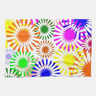 Mehrfarbige Blumen Handtuch