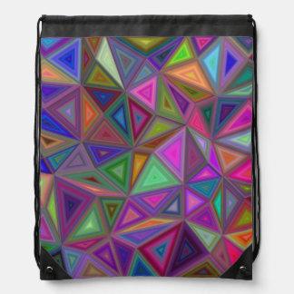 Mehrfarbige chaotische Dreiecke Turnbeutel