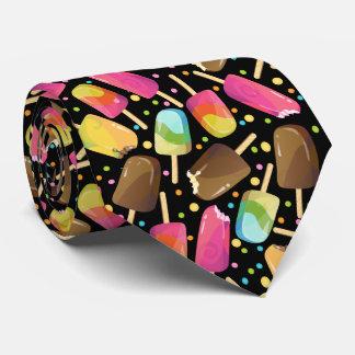 Mehrfarbige Eiscreme Popsicles besprüht Muster Krawatte