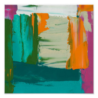 Mehrfarbige freie Ausdruck-Malerei Poster