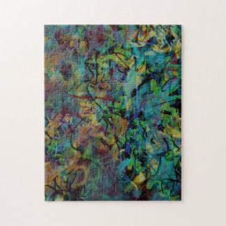 Mehrfarbige gekritzelte abstrakte Kunst Puzzle