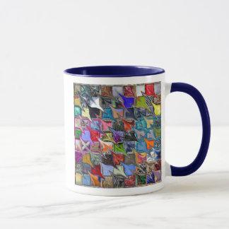 Mehrfarbige gemusterte Tasse (beide Seiten)