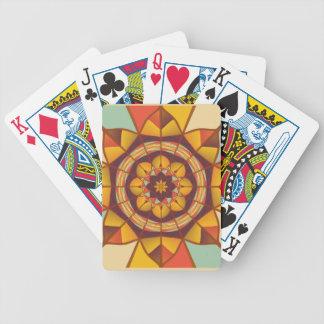 Mehrfarbige geometrische blühen bicycle spielkarten