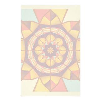 Mehrfarbige geometrische blühen briefpapier