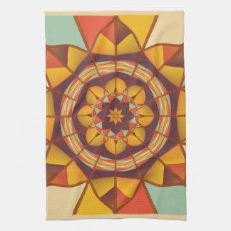 Mehrfarbige geometrische blühen handtuch