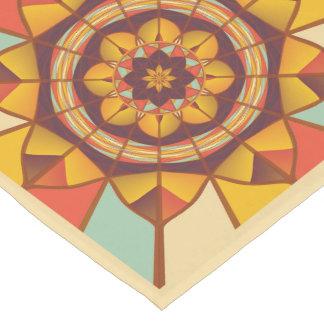 Mehrfarbige geometrische blühen kurzer tischläufer