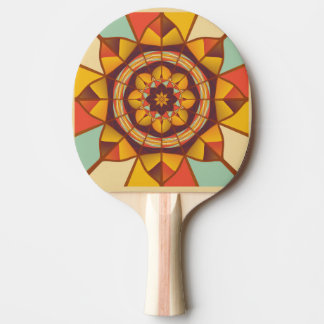 Mehrfarbige geometrische blühen tischtennis schläger